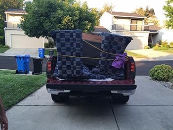 Furniture loaded in truck