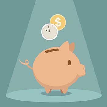 Piggy Bank Illustration - Save Time and Money