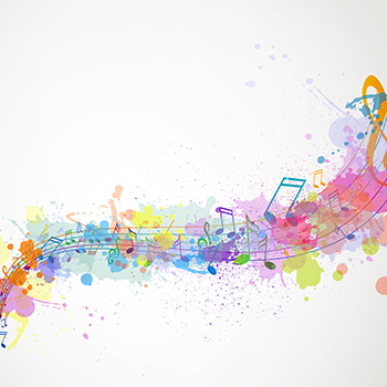 Abstract Background with Music notes
